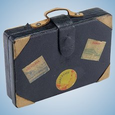 Vintage Doll Suitcase with City Labels