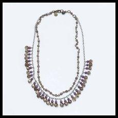 Vintage David Aubrey Amethyst Bead Necklace