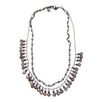 Vintage David Aubrey Amethyst Bead Necklace