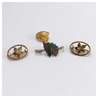 Four Small Brooches for Doll Clothing