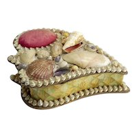 Lovely Antique Shell Pincushion Box
