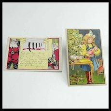 Two Christmas Postcards Circa 1906