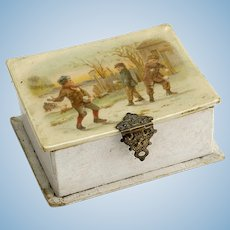 Vintage Celluloid Box For Doll Display As Is