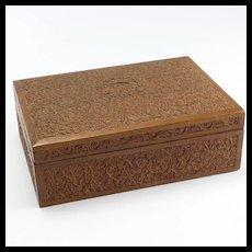 Elaborately Carved Wooden Box- Perhaps Sandalwood