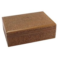 Elaborately Carved Wooden Box- Perhaps Sandalwood