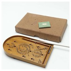 Fabulous Miniature Bagatelle Game Doll Accessory