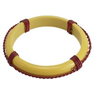 Interesting Vintage Bakelite Bracelet Like a Lifesaver