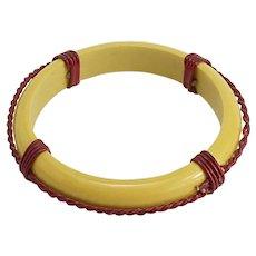 Interesting Vintage Bakelite Bracelet Like a Lifesaver