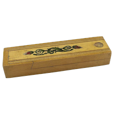 Vintage Pencil Box with Sliding Top