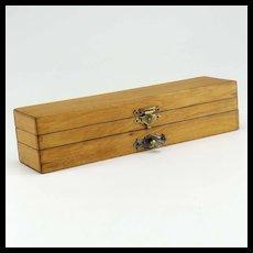 Unusual Antique Locking Pencil Box