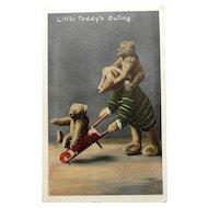 Fabulous Steiff Bear Edwardian Post Card