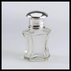 1920's Sterling and Crystal Perfume/Scent Bottle