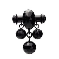 Fabulous Antique Circa 1880 Whitby Jet Brooch