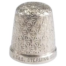 Interesting Sterling Silver Thimble Called The Spa