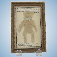 Vintage Mohair Teddy Bear Postcard