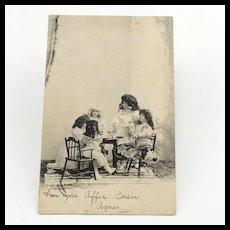 Doll's Party Postcard Circa 1904