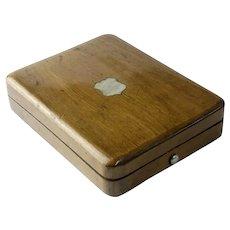 Vintage Wooden Pocket Watch Box Reymond Locle