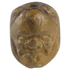 19th Century Two faced Ojime Bead