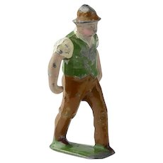 Vintage Cast Iron Painted Farmer