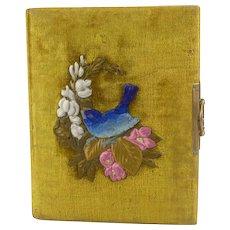 Antique Velvet Photo Album with Photos Circa 1883