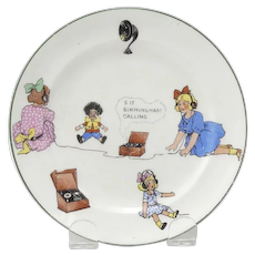 Vintage Plate With Golliwog and Wireless