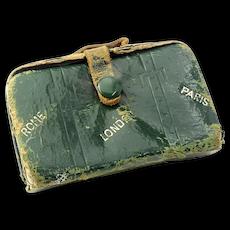 Leather  Doll  Suitcase Manicure Set