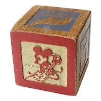 Vintage Mickey Mouse Block from Block Set