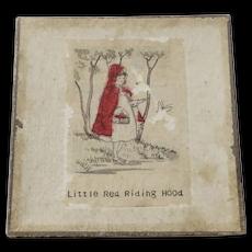 Vintage red Riding Hood Hanky IOB