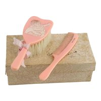 Vintage Doll's Hairbrush and Comb IOB