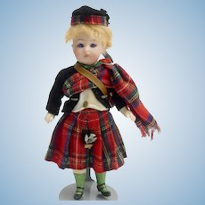 Antique Simon and Halbig Scottish Doll IOB