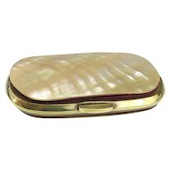 Antique Accordion Mother of Pearl Coin Purse