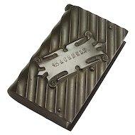 Antique Circa 1880 Vulcanite or Gutta Percha Vesta Case/Matchsafe