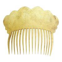 Antique Circa 1830 Horn Hair Comb