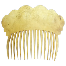 Antique Circa 1830 Horn Hair Comb