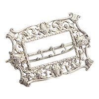Antique Sterling Silver Buckle Circa 1887