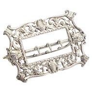 Antique Sterling Silver Buckle Circa 1887