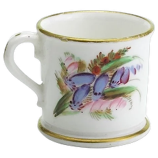 Antique Miniature Royal Worcestershire Coffee Can or Cup Circa 1875