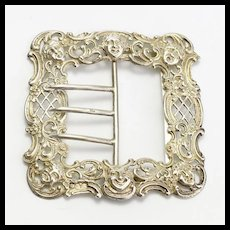 Antique Sterling Silver Art Nouveau Buckle Circa 1897