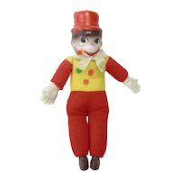Vintage Celluloid Monkey Clown Toy