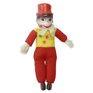 Vintage Celluloid Monkey Clown Toy