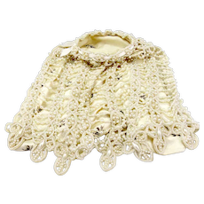 Unusual Vintage Costume Pearl Handbag/Purse