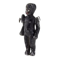 Vintage Black Miniature All Bisque Doll