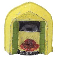 Vintage Doll House Fireplace Insert