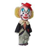 Vintage Celluloid and Cloth Clown Doll