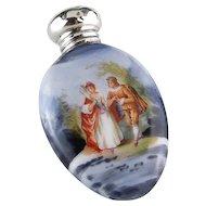 Porcelain Romantic Couple Perfume/ Scent Bottle 1904