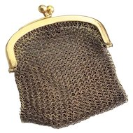 Vintage Gold Plated Miniature Mesh Purse