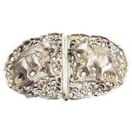 Vintage Silver(tested) Elephant Belt Buckle