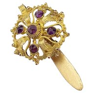Vintage Miniature Jeweled Chatelaine Hook
