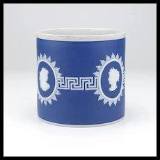 Antique Jasperware Cameo Design Vase 19th Century