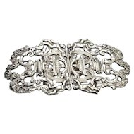 Austro Hungarian Sterling Silver Buckle with Cherubs Design C. 1910